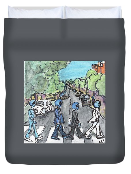 Alien Road Duvet Cover