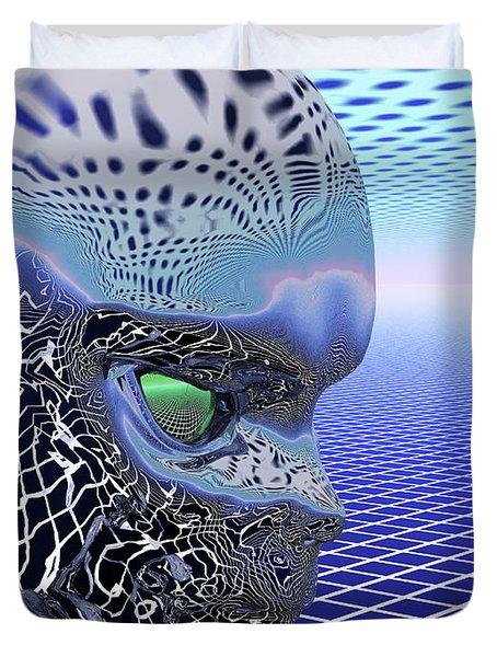 Alien Stare Duvet Cover by Nicholas Burningham