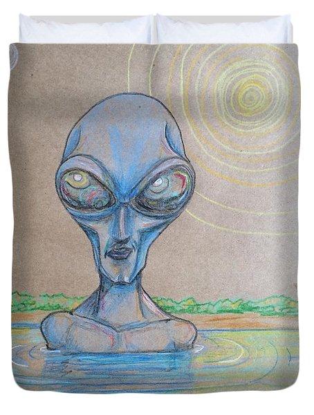 Alien Submerged Duvet Cover