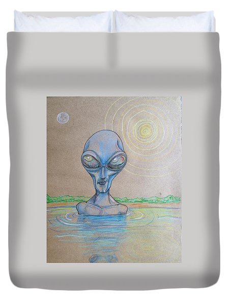 Alien Submerged Duvet Cover