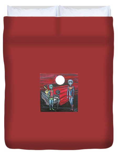 Alien Superheros Duvet Cover