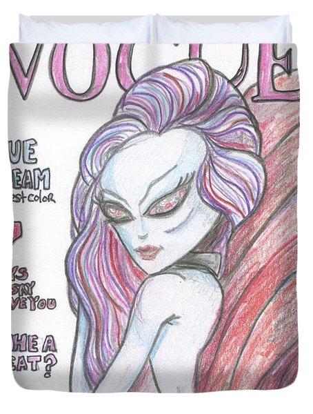 Alien Vogue Duvet Cover