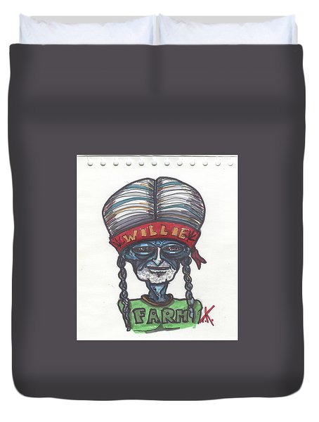 alien Willie Nelson Duvet Cover