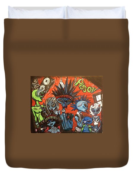Aliens With Nefarious Intent Duvet Cover