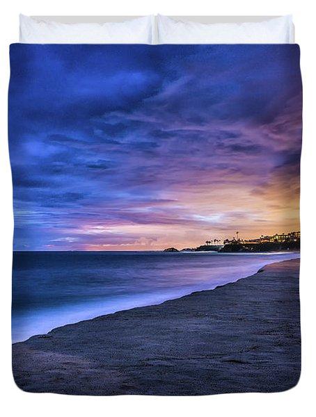 Aliso Beach Lights Duvet Cover