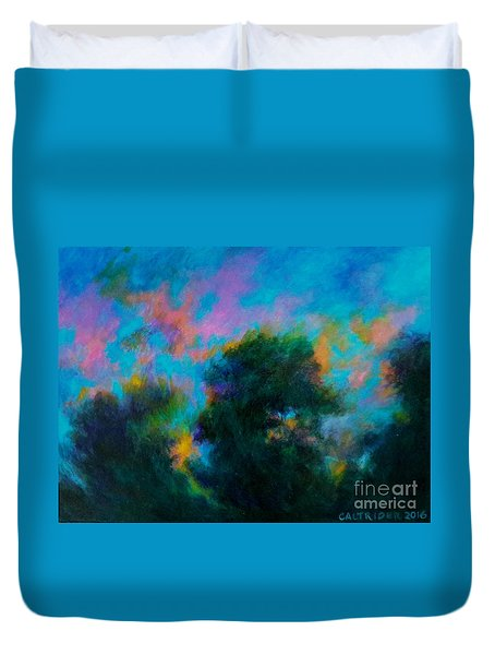 Alison's Dream Time  Duvet Cover by Alison Caltrider