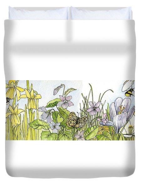 Alive In A Spring Garden Duvet Cover