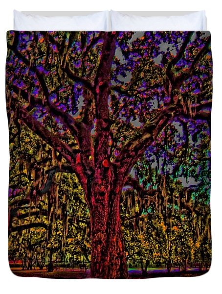 Alive Oak Duvet Cover