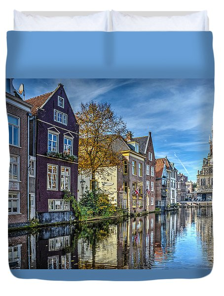 Alkmaar From The Bridge Duvet Cover