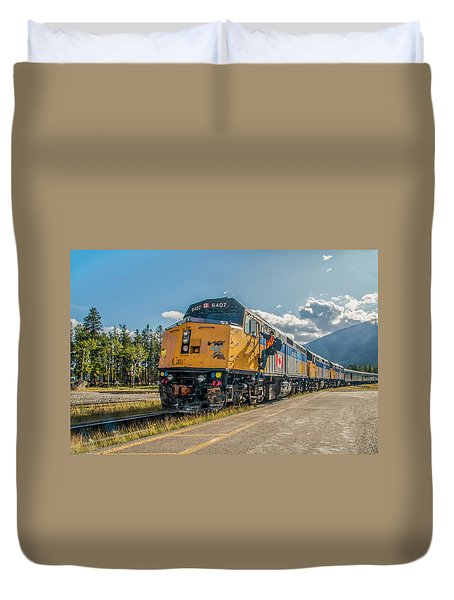 Duvet Cover featuring the photograph All Aboard 2009 by Jim Dollar