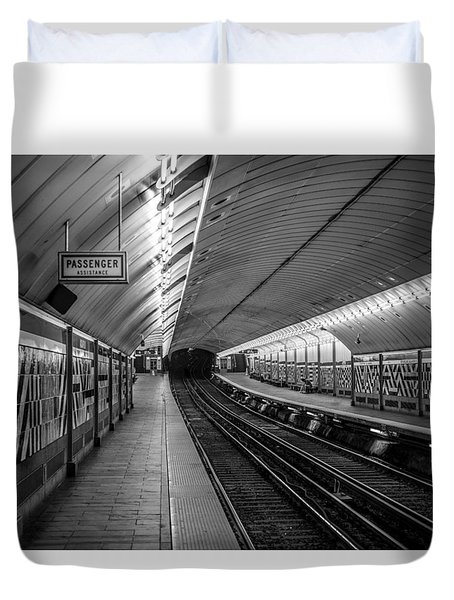 Duvet Cover featuring the photograph All Aboard by Jason Moynihan