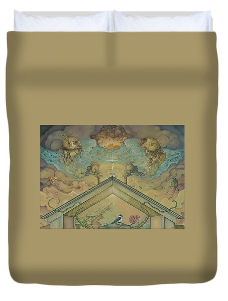 All Adrift Duvet Cover by Andrew Batcheller