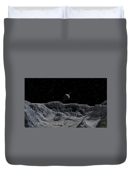 Duvet Cover featuring the digital art All Alone by David Robinson