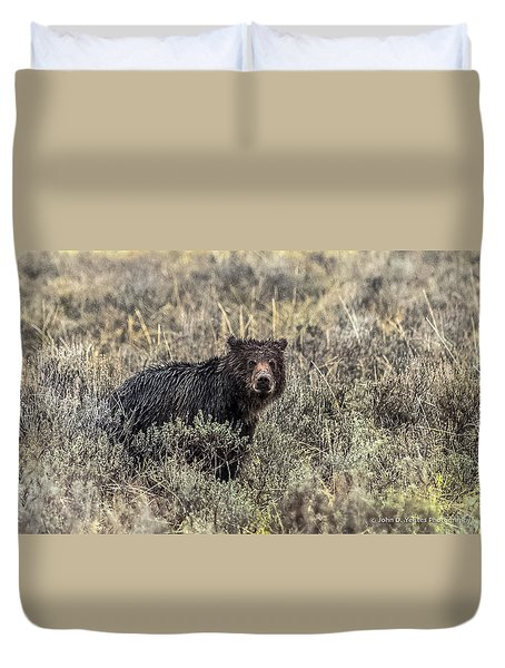 Duvet Cover featuring the photograph All Alone by Yeates Photography