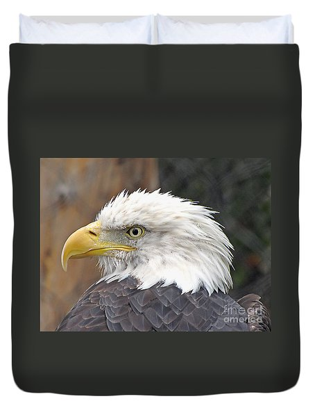 Duvet Cover featuring the photograph All American Bird by Martha Ayotte