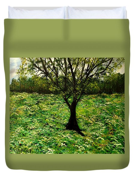 All Around The Turmoil Duvet Cover by Lisa Aerts