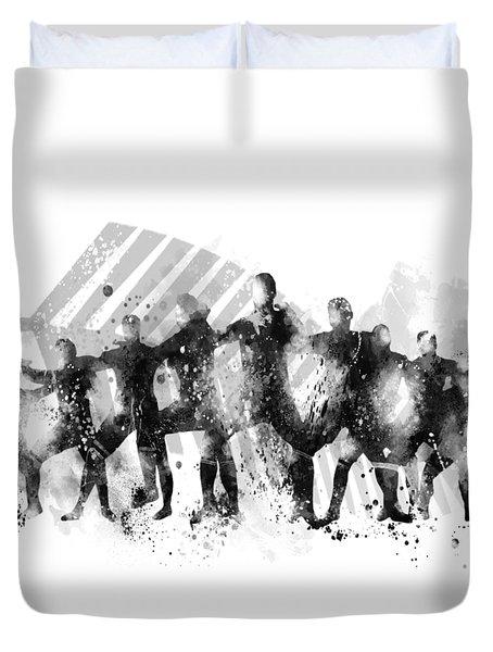 All Blacks Haka Duvet Cover