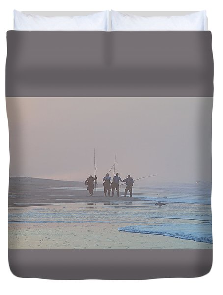 Duvet Cover featuring the photograph All Done by  Newwwman