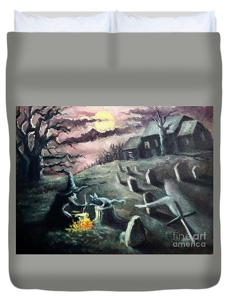 All Hallow's Eve Duvet Cover by Randy Burns