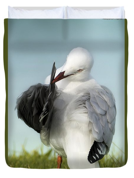 Duvet Cover featuring the photograph All In A Days Work 01 by Kevin Chippindall