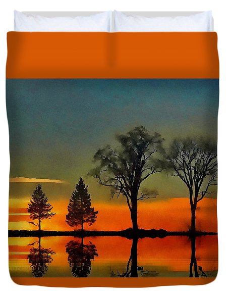 All In A Row  Duvet Cover by Andrea Kollo