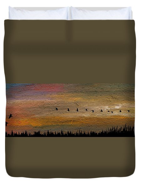 All In-a-row Duvet Cover by R Kyllo