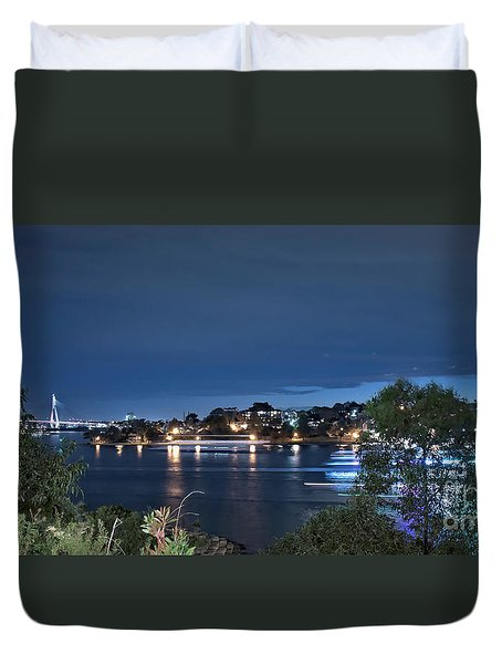 Duvet Cover featuring the photograph All Lit Up by Elaine Teague