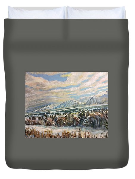 All Of Creation Waits Duvet Cover
