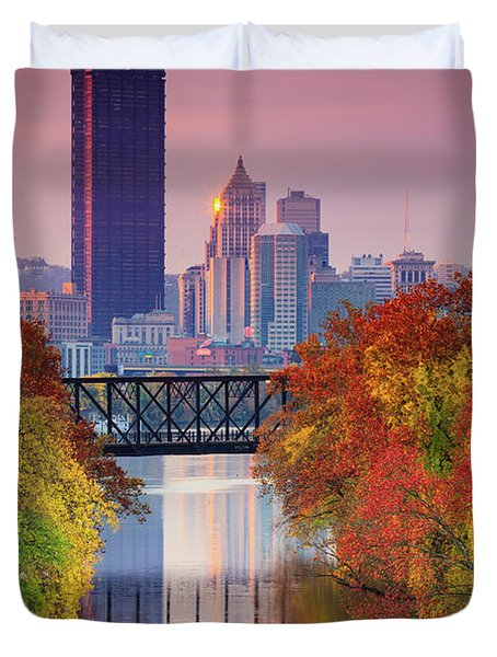 All Pittsburgh Pink  Duvet Cover