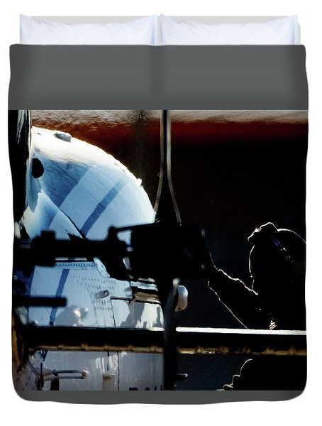 Duvet Cover featuring the photograph All Ready by Paul Job