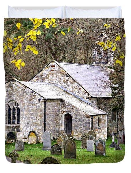 All Saints Church Hawnby Yorkshire Uk Duvet Cover