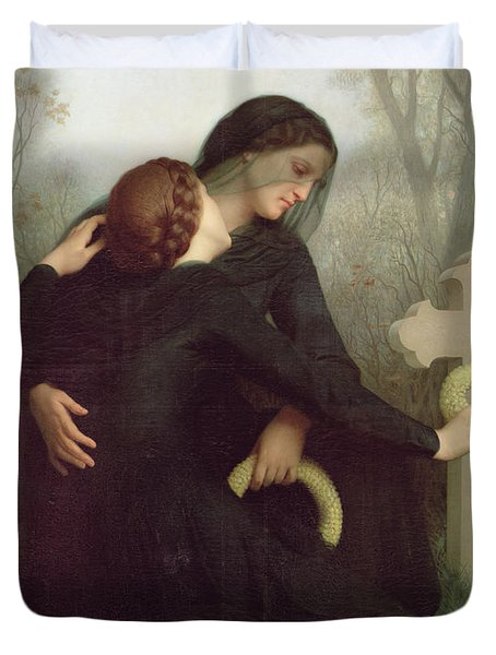 All Saints Day Duvet Cover by William Adolphe Bouguereau