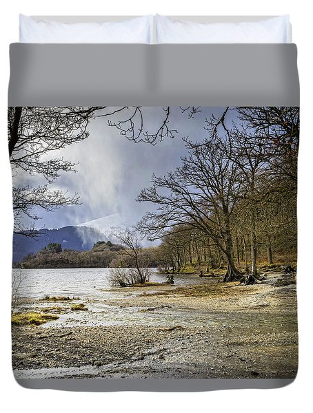 Duvet Cover featuring the photograph All Seasons At Loch Lomond by Jeremy Lavender Photography