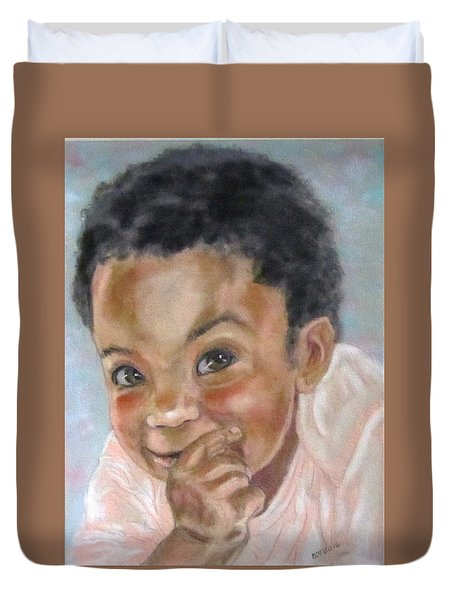 All Smiles Duvet Cover by Barbara O'Toole