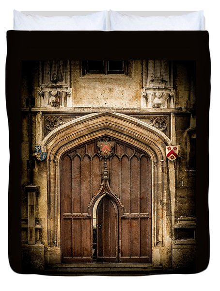 Oxford, England - All Souls Gate Duvet Cover