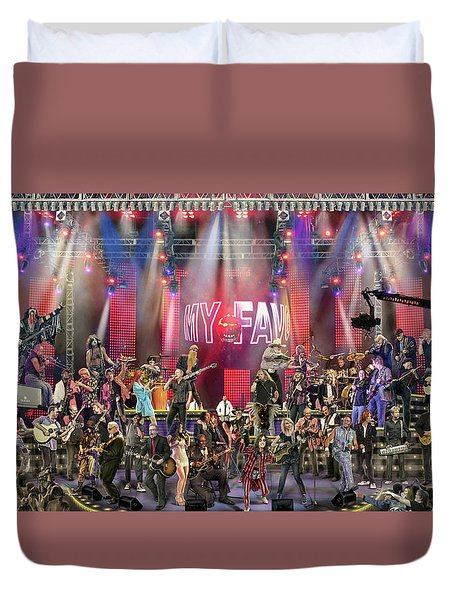 Duvet Cover featuring the photograph All Star Jam by Don Olea