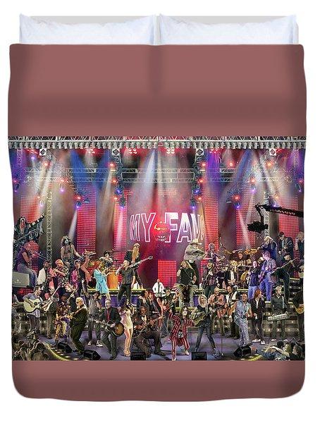 All Star Jam Duvet Cover by Don Olea