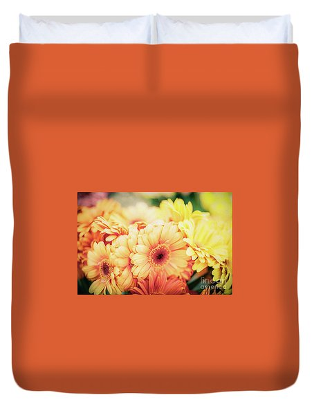 Duvet Cover featuring the photograph All The Daisies by Ana V Ramirez