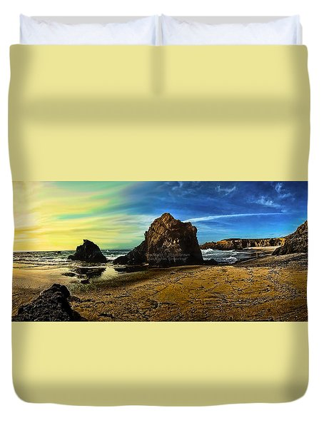 All The Gold In California Duvet Cover
