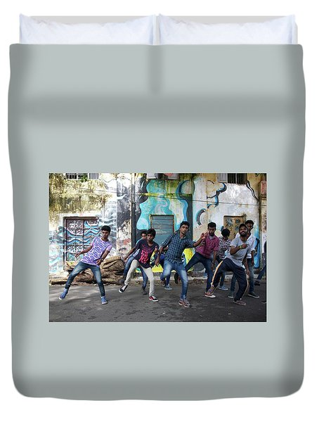 All The Moves Duvet Cover