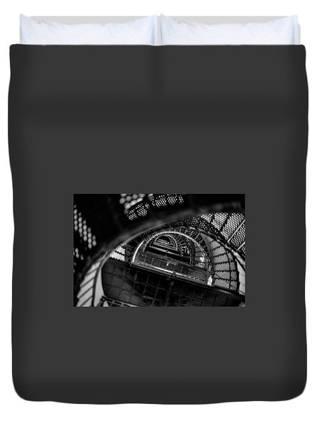 Duvet Cover featuring the photograph All The Way To The Top by T Brian Jones