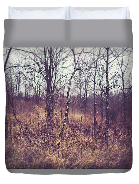 Duvet Cover featuring the photograph All The While by Shane Holsclaw