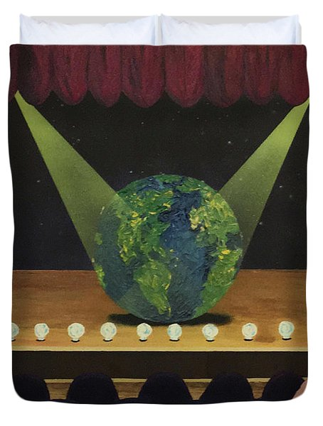 All The World's On Stage Duvet Cover