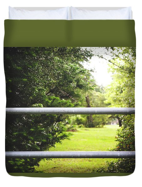 Duvet Cover featuring the photograph All Things Green by Shelby Young