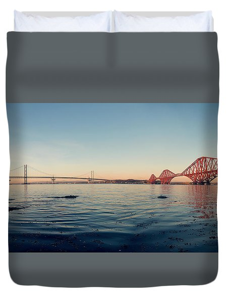 All Three Bridges Duvet Cover by Ray Devlin