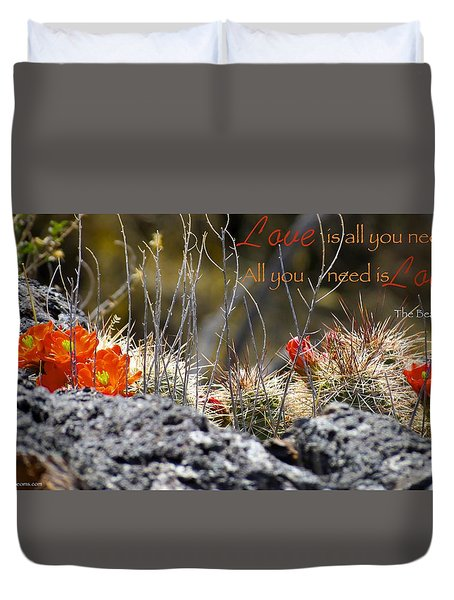 Duvet Cover featuring the photograph All We Need by David Norman
