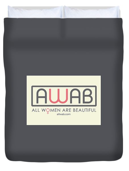 All Women Are Beautiful Duvet Cover by David Wadley and LogoWorks