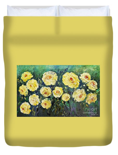 All Yellow Roses Duvet Cover