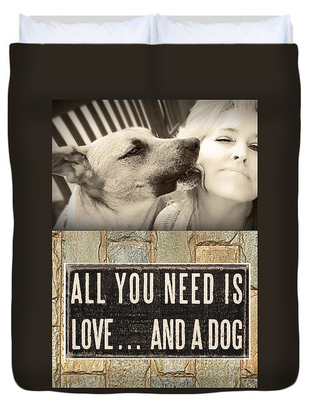All You Need Is A Dog Duvet Cover