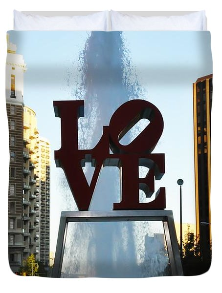 All You Need Is Love Duvet Cover by Bill Cannon